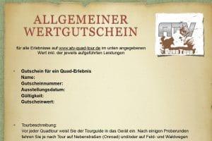 ATV-Quad-Tour Gutschein